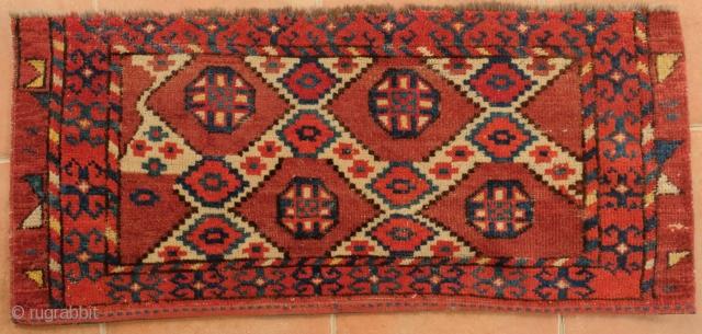 Central Asian Bagface Ikat - Lattice Design. 94 x 43 cm Good saturated colors.