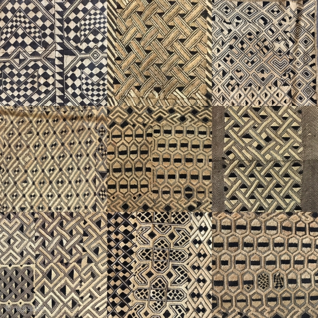 Collection of Kuba cloths. Full skirt and other fine fragments. Various sizes. All intact and old. Contact for additional images and view profile for additional quality pieces.