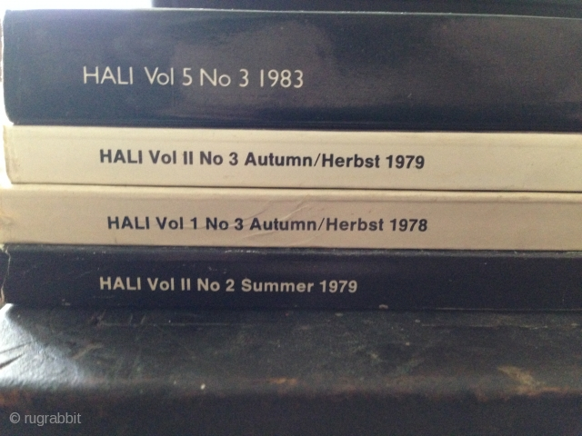 Four early Hali issues. All in vary good condition priced to sell.