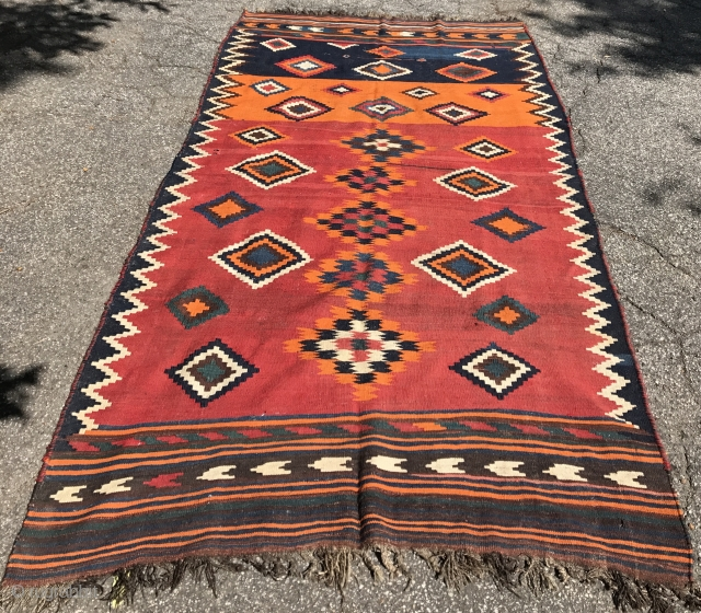 Flat woven rug. Good condition. Contact for additional images and information.