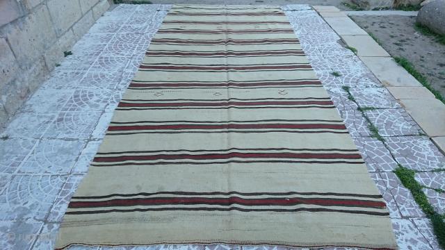 Turkish Anatolian karapınar Kilim naturel colors size=375x160