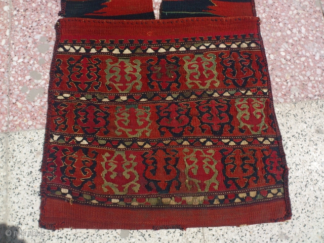 Yüncü heybe No repairs very nice condition same have silver woven size=120*46cm
