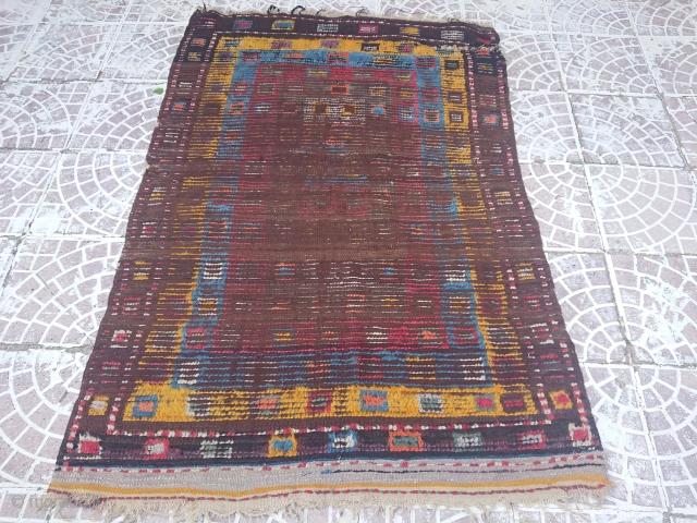 Circa 1900 Anatolian Tulü rug size=155x115