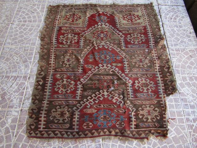 19thc Anatolian Kavak kilim size=140x115