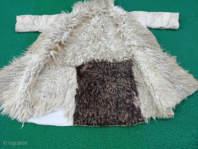 Very interesting costume made from Anatolian leather. Size=122x105 cm