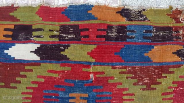 Anatolian Elmadağ kilim frakmet size=105x97cm