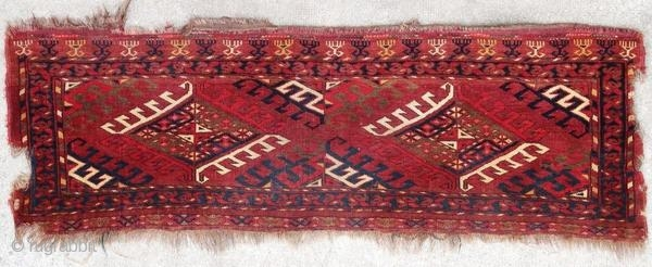 Ancient Yomut torba, vegetable dyes, 1900 or before.