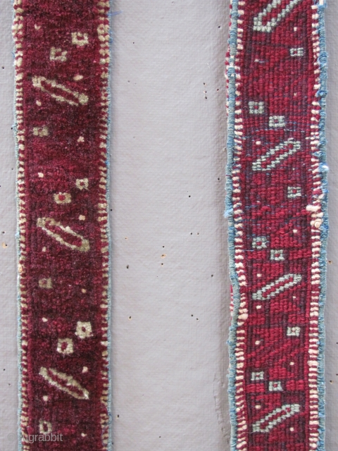Pair of Indian Agra ' Roorkhee ' campaign chair straps, late 19th cent. 72 x 6 cm  An Anglo Indian product. Named in honour of the HQ  of the Indian Army Corps of Engineers  ...