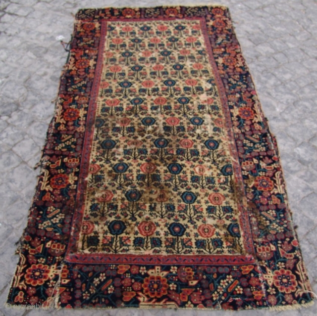 Persian Senneh Rug Fragment  size  180 X 090