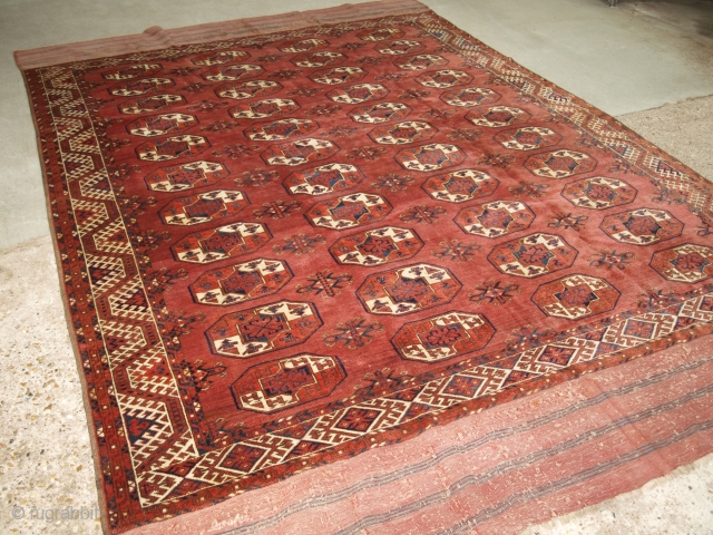 Antique Kizil Ayak Turkmen main carpet, 19th century.