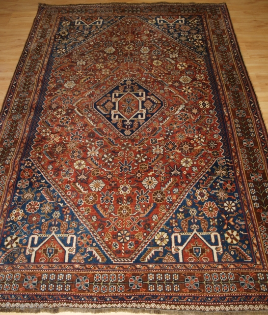 Antique south west Persian Qashqai tribal rug. www.knightsantiques.co.uk 