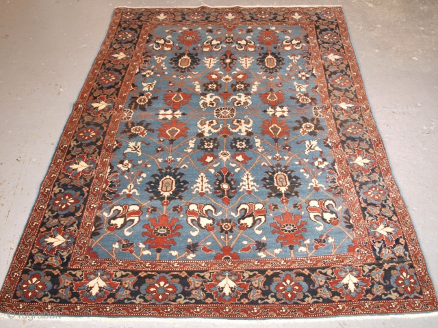 Size: 6ft 7in x 4ft 6in (200 x 138cm). www.knightsantiques.co.uk 