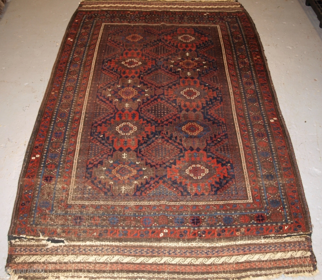 Antique Timuri Baluch main carpet of small size. Published, ex Wisdom collection. www.knightsantiques.co.uk Size: 9ft 0in x 5ft 7in (275 x 170cm). 