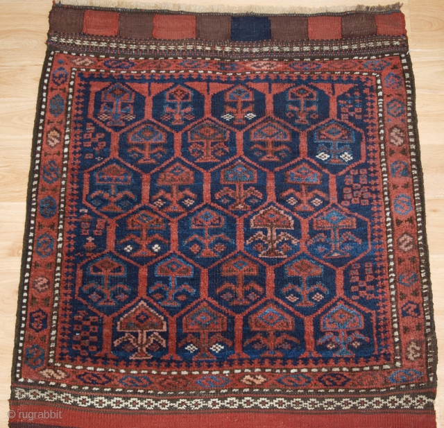 Antique Timuri Baluch complete khorjin (pair of saddle bags). www.knightsantiques.co.uk Size: Opened 9ft 6in x 2ft 2in (290 x 67cm). Face size about 67 x 75cm. 