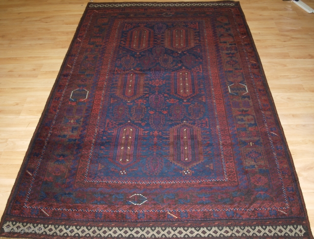 Antique Afghan Timuri Baluch rug from Western Afghanistan. www.knightsantiques.co.uk Size: 8ft 0in x 4ft 11in (245 x 151cm). 
