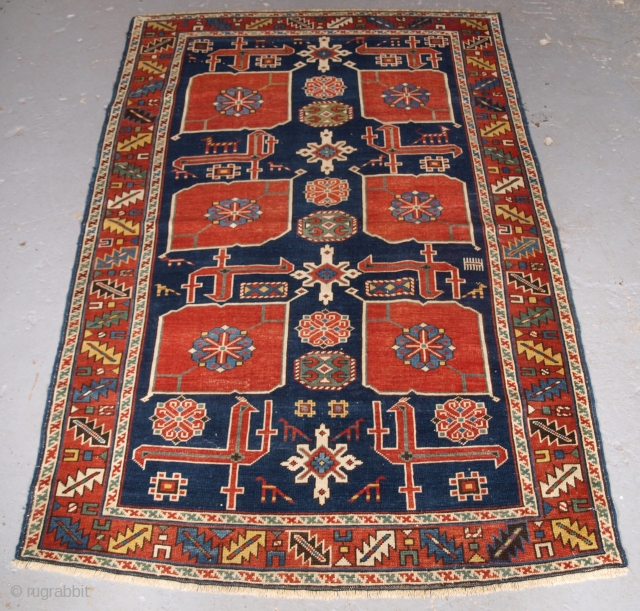 Antique Caucasian Karagashli rug, Size: 161 x 103cm. Click the link www.knightsantiques.co.uk to view more items. Antique Caucasian Kuba rug from the village of Karagashli which is just north of Perepedil. 
