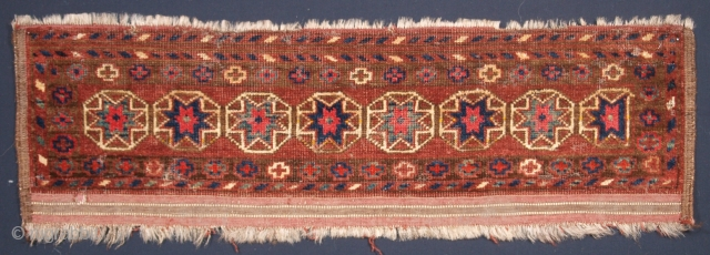 ***£895*** Scarce Ersari Germech. Click the link www.knightsantiques.co.uk to view more items. Size: 97 x 29cm. Antique Ersari Turkmen germech with star design.