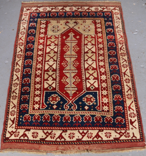Bergama rug, size: 130 x 88cm. click the link www.knightsantiques.co.uk to view more items.