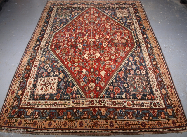 Antique South West Persian Kashkuli Qashqai rug with all over small floral design. click the link www.knightsantiques.co.uk to view more items. 