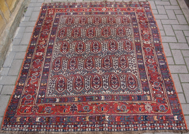 Good Khamseh rug with boteh design. www.knightsantiques.co.uk