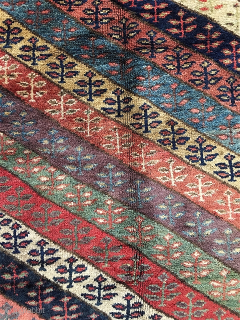 NW Persian (Kurdish/SaujBulagh?) runner in full pile, great colors. Email for more info.