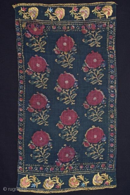 Yazma - Batik on cotton - Istanbul - XVIII or early XIX - 39 X 71 cm