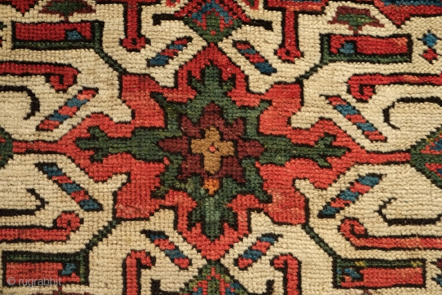Shahsavan pile mafrash short side panel, Late 19th Century. All great natural colors. Soft wool and powerful main medallion.  A few small areas of repiling but otherwise in great condition.   ...
