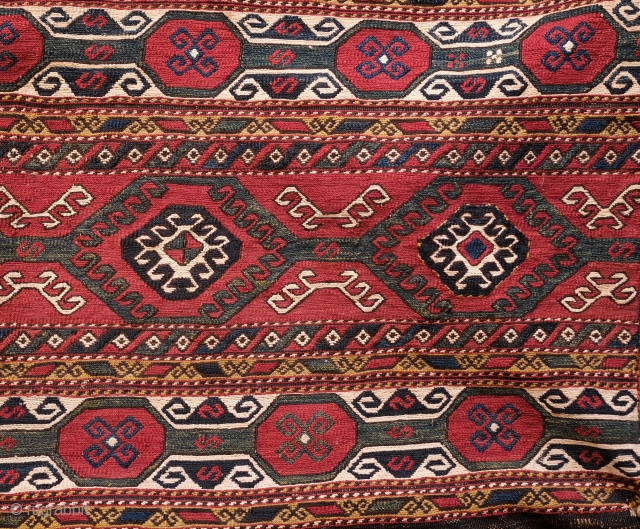 Caucasian Mafrash. Karabagh. Third to Fourth quarter of the 19th Century. All saturated natural colors. It is in great condition. A wonderful piece for a collection. Long side: 47 x 103 cm,  ...