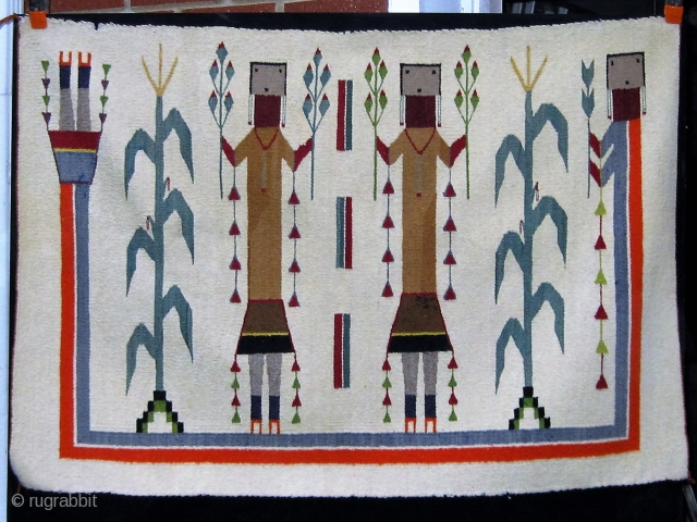 "Antique Navajo Yei, circa 1930-1950, 31"" by 44"".  Please ask for additional photos."