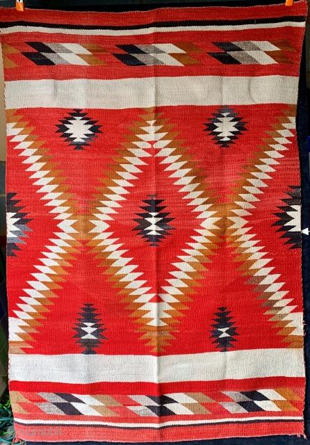 Antique Navajo transitional weaving, circa 1890-1900.  Please ask questions.