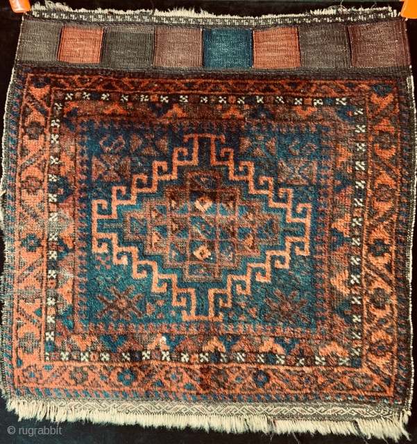 Antique Baluch bagfront with all natural dyes.  Very reasonably priced.  Please inquire and ask for additional photos if needed.