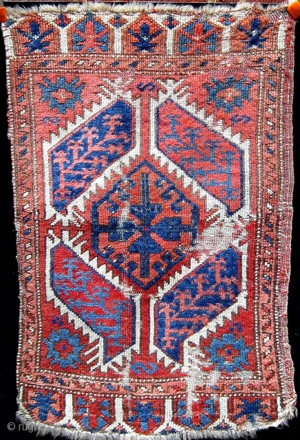 "19th Century Central Anatolian yastik, similar to number 64 in Morehouse.  All dyes appear natural.  22"" by 35""."