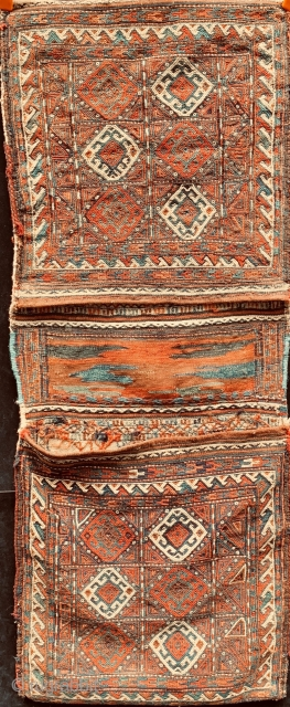 Antique Eastern Persia/ Kurdish saddlebags in lovely condition.  All dyes are natural.  Please ask for additional photos if needed.