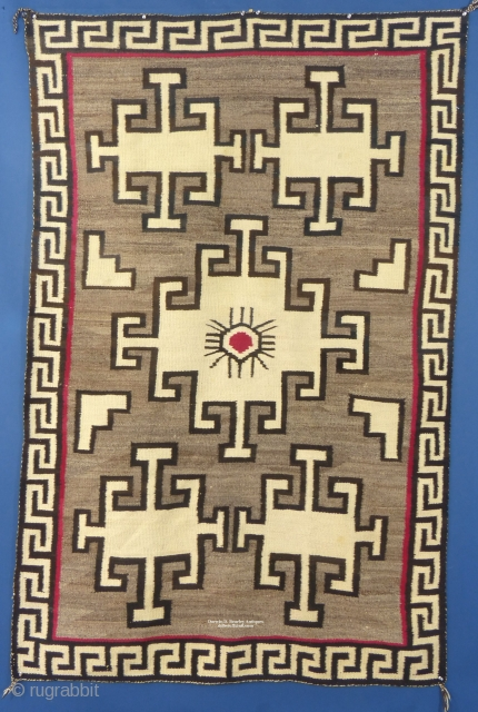 """Large American Navajo Pictorial Weaving,  c. 1920-40,  Excellent Condition with one very small hole,  Measures 78"""" x 50""""   Ask for price"""