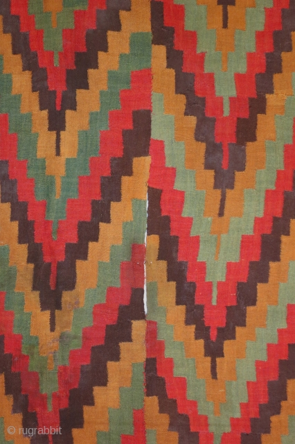 Pre-Columbian tunic, Late Nazca Culture, circa 500-800 AD, interlocking discontinuous warp and weft, Dimensions, 47 x 76 inches, Excellent condition