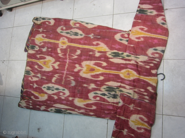 Uzbek ikat antique chapan  ask