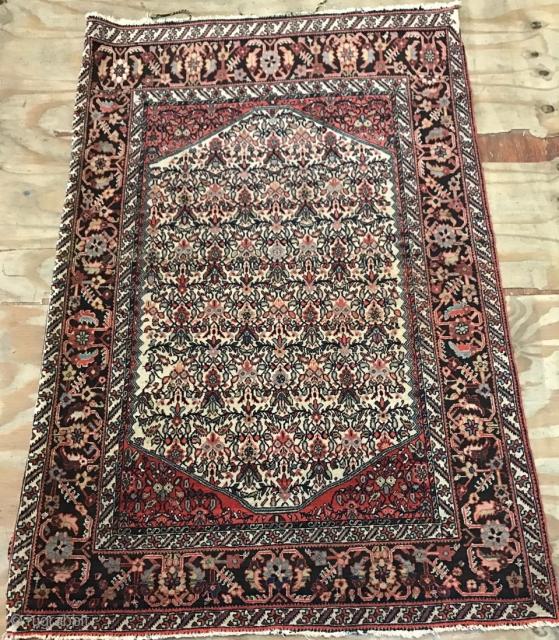 Antique small Farahan rug.  100x150cm  P.O.R