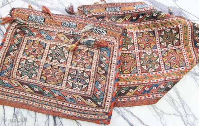 nearly pair of nice fine quality Afshar Sumak chante.  Circa :1900  P.O.R
