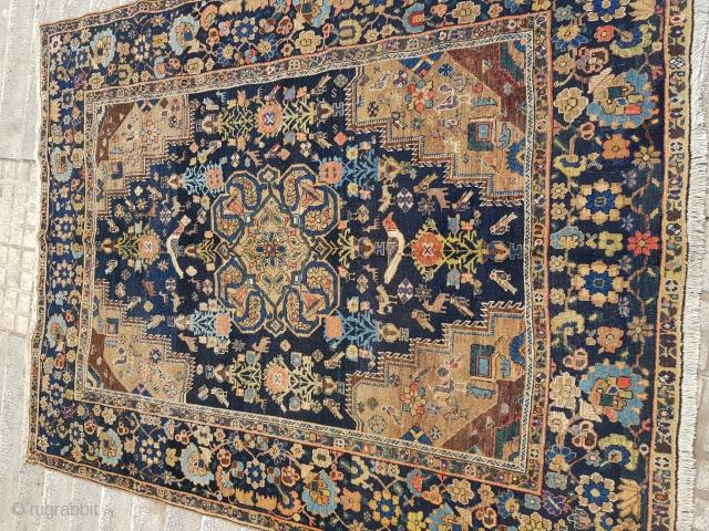 Antique Neyriz rug.  P.O.R
