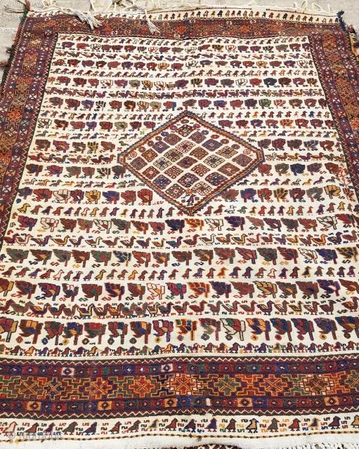 Antique Sumak Afshar kilim  Circa: 1920   P.O.R