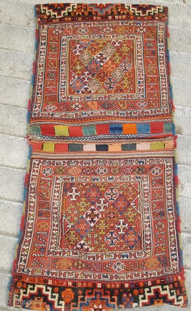 Antique fine quality Bakhtiyar saddle bag   P.O.R