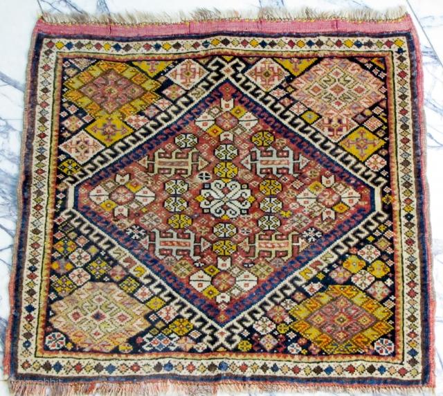 Fine antique top quality Qashqaee mat.  P.O.R