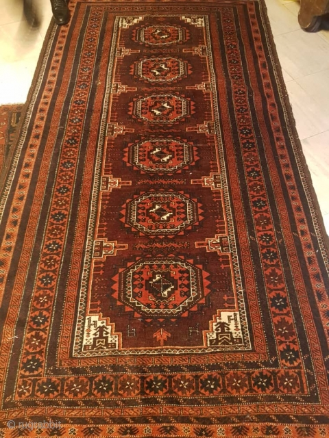 Nice,Antique Baluch long rug  260x140cm   P.O.R