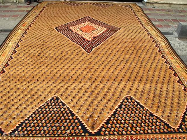 Large antique Zarand kilim.  400x300cm  P.O.R