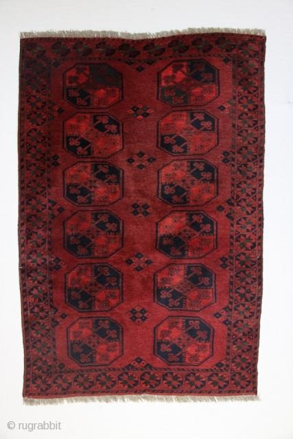 Afghan rugs, approx: 14 mm Age: made around 1900 Origin: Afghan Pile: Wool
