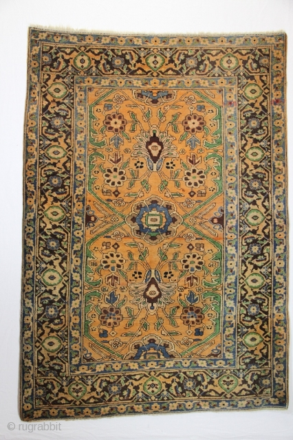 Tabriz Carpet id: 1063NB Size: 203x141Thickness approx: 14 mm Made around: 1910 Pile: Wool