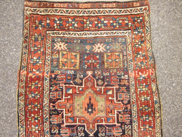 ANTIQUE KARADJA RUNNER WITH WOOL  WARP