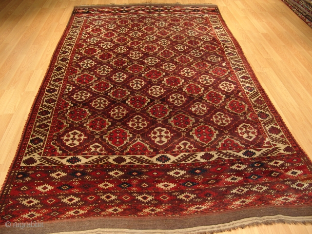 340 x 215  cm   Chodor  Turkmen   Around 120-130 years old Natural colors