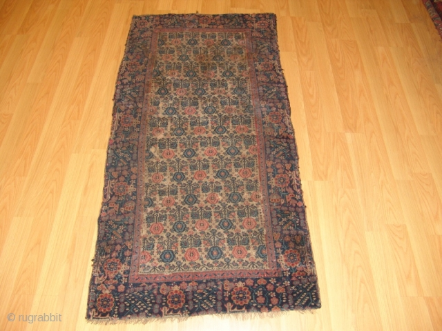 Antique North West Persian/ Azerbeycan Circa 1900. Size 91cm x 180cm Real Collectable Piece but unfortunately very bad condition. Very dirty and needs good cleaning. Reduced in length. Cut & shut. But great  ...