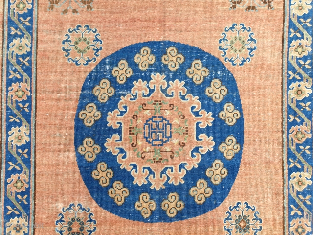Antique Khotan cm 420x208 Old repairs, professionally washed. For any further detail please ask
